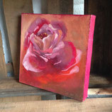Rose 2 in Öl auf Leinwand