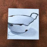 Emaille Schnabel-Schüssel auf Keilrahmen