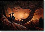 Deux canards comtemplant la lune