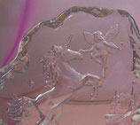 Tanz des Einhorns - Glasrelief aus Kristallglas