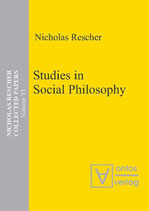 Rescher Nicholas, Studies in Social Philosophy