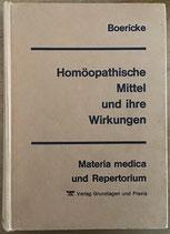Boericke, Homöopathische Mittel und ihre Wirkungen - Materia medica und Repertorium (antiquarisch)