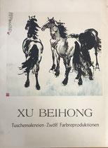 Xu Beihong - Tuschmalereien - Zwölf Farbreproduktionen (antiquarisch)