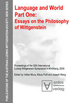 Munz Volker, Language and World. Part One: Essays on the Philosophy of Wittgenstein (Publications of the Austrian Ludwig Wittgenstein Society, Band 14)
