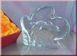 Tanz der Delfine - Glasrelief aus Kristallglas