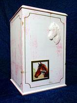 Pferdeurne Nr. 6 Shabby, pink-gold mit Wechselrahmen