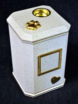 Modell: Nr.: 2 - Achteck / Granit weiß