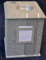 Modell Nr,; 4/1, Viereck, Granit - mittelgrau