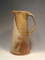 Wood-fired olive green celadon pitcher