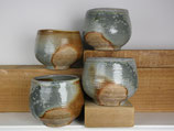 set of 4 wood-fired cups