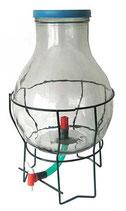 Glasballon mit Untergestell