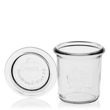140ml glass jar with glass lid