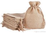 Mini Pouch Jute Bag Linen Hemp 13x18cm