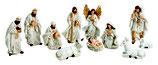 Krippenfiguren Set antik weiß