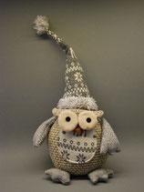 Weihnachts-Eule mit Mütze