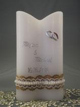 Beispiel Hochzeitskerze Sonderform