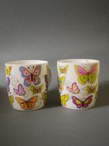 Tasse Schmetterlinge bunt 2-fach sortiert