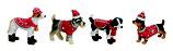 Winterhund mit Weihnachtsmütze