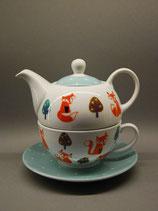 Teekannen Set Fuchsdesign 4-teilig
