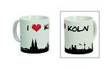 Tasse Skyline Hamburg Köln München 3-fach sortiert