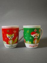Tasse  Weihnachtfuchs 2-fach sortiert