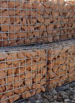 Art.-Nr. 16.476 Steinkörbe gefüllt mit Steine gelblich-rot