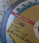 Art.Nr. 15.033 Trennscheibe 125 x 1 mm für Edelstahl