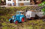 POLA 331613 Bulldog Traktor mit Schäferwagen 1:22,5 Spur G