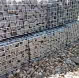 Art.-Nr. 16.477 Steinkörbe gefüllt mit Steine grau