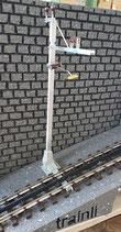 Art.-Nr. AZL 7100 Oberleitungsmast gerades H -Profil für Zahnradstrecken