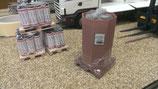 Art.Nr. 16.288  Oktabine mit Kunststoffrohmaterial, Einwegpalette Spur G