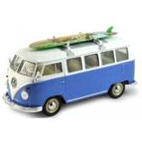 Art.Nr. 16.325 VW T1 Bus 1959 blau/weiss mit Surfbrett