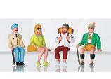 LGB 53007 Arbeiter Figuren touristen sitzend