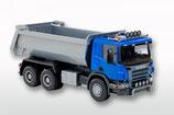 Art.Nr. E10504 Scania P 3achs Muldenkipper Blaues Fahrerhaus 1:25