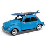 Art.Nr. 16.326 VW Käfer 1959 Blau  mit Surfbrett