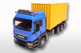 Art.Nr. E83794 MAN TGS mit 20 Abrollcontainer blaue Ausführung  1:25