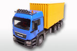 Art.Nr. E83894 Man TGS LX mit Abrollmüllpresse blaue Ausführung 1:25
