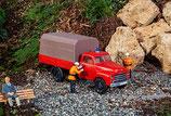 POLA 331615 Feuerwehrfahrzeug Opel Blitz mit Blache 1:22,5 Spur G