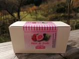 Ballotin pâtes de fruits framboises/rose/mûres