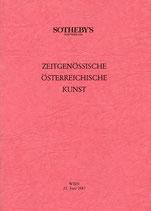 Zeitgenössische österreichische Kunst - Künstler gegen AIDS - Auktion Sotheby's 1987.