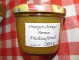 Orange-Mango-Birnen Fruchtaufstrich 200g --F166