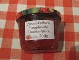 Zitrone-Erdbeere-Bergpfirsich Fruchtaufstrich 200g--F26