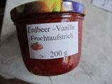Erdbeer-Vanille Fruchtaufstrich 200g --F30