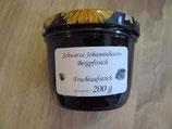 Schwarze Johannisbeere-Bergpfirsich  Fruchtaufstrich 200g --F29
