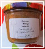 Banane - Mango - Mandeln Fruchtaufstrich--F56