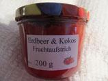 Erdbeere-Kokosnuss Fruchtaufstrich 200g --F233