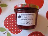 Kirsche-Cranberry-Apfel Fruchtaufstrich 200g  F228