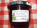 Himbeere-Johannisbeere-Stachelbeeren Fruchtaufstrich 200g-- F23
