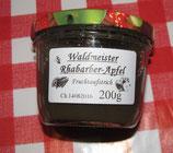 Rhabarber-Apfel-Waldmeister  Fruchtaufstrich 200g --F230