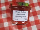 Erdbeeren-Mandarinen-Mango-Himbeeren Fruchtaufstrich 200g-- F79